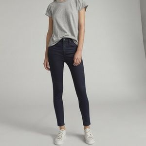 Rag and Bone Dark Blue high rise ankle skinny jean